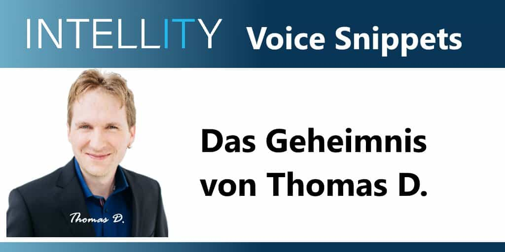 Voice Snippet – Thomas D.